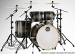 Mapex Drum Set Armory Series Exotic 5-Piece Rock Shell Pack in Black Dawn - Birch/Maple/Birch