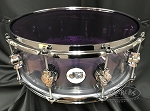 DW Snare Drum Design Series 5.5x14 Clear Acrylic Seamless Shell w/ Remo Purple Colortone Drum Head