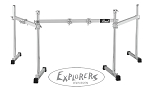 Pearl Icon Three Sided Drum Rack - Striaght w/ PCX100X4 & PCL100X2 Clamps