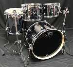 DW Drum Set Performance Series 4 Piece Maple Shell Pack in Chrome Shadow - 22, 10, 12,16