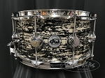 DW Snare Drum Collector's 6.5x14 Maple Mahogany w/ Chrome Hardware - Black Oyster Glass