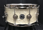 DW Snare Drum Collector's 6.5x14 Maple Mahogany Shell w/ Nickel Hardware in Vintage Marine Pearl