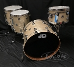 DW Drum Set Collector's Series 4 Piece Maple Mahogany Shell Pack in Creme Oyster w/ Chrome Hardware