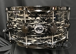 DW Snare Drum Collector's Series 6.5x14 Cherry Mahogany in Black Oyster Glass w/ Black Nickel Hardware