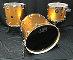 DW Drum Set Performance Series 3 Piece Shell Pack in Gold Sparkle - 22, 13, 16