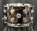 DW Snare Drum Collector's Series 8x14 Black Nickel Over Brass Shell w/ Chrome Hardware - B Stock