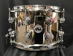 DW Snare Drum Limited Edition Collector's Series 8x14 Nickel over Brass 1mm Shell w/ Chrome Hardware