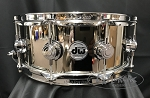 DW Snare Drum Limited Edition Collector's Series 5.5x14 Nickel over Brass 1mm Shell w/ Chrome Hardware