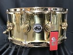 DW Snare Drum Collector's Series 6.5x14 Polished Brass Shell w/ Gold Hardware