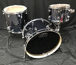 DW Drum Set Performance Series 3 Piece Maple Shell Pack in Chrome Shadow - 22,12,16
