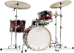 DW Drum Set Design Series 4 Piece Frequent Flyer Jazz Sized Shell Pack in Tobacco Burst