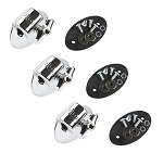 DW Tom Mount Bracket - Chrome - 3 Pack w/ No Memory Locks