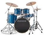 Ludwig Element Evolution 5 Piece Complete Drum Set w/ Hardware & Zildjian ZBT Cymbal Pack