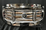 Gretsch Snare Drum Brooklyn Series 5x14 Maple/Poplar 6 Ply Shell in Black Orange Oyster