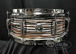 Gretsch Snare Drum Brooklyn Series 5.5x14 Maple/Poplar 6 Ply Shell in Black Orange Oyster