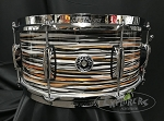 Gretsch Snare Drum Brooklyn Series 6.5x14 Maple/Poplar 6 Ply Shell in Black Orange Oyster