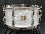 Gretsch Snare Drum USA Broadkaster 6.5x14 Maple/Poplar/Maple Shell in White Marine Pearl