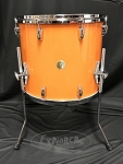Gretsch USA Custom Round Badge 14x16 Maple/Gum Add On Floor Tom in Gretsch Orange