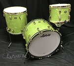 Ludwig Drum Set USA Limited Edition 110th Anniversary Classic Maple Fab 3 Shell Pack in Vintage Emerald Pearl Outfit
