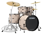 Tama Limited Edition 5 Piece Imperialstar Complete Drum Set in White Birch Wrap