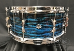 INDe Drum Lab Snare Drum RESoArmor 6.5x14 Maple Shell in Blue & Black Oyster Sparkle