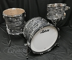 Ludwig Drum Set USA Oak Series FAB 3 Piece Shell Pack in Vintage Black Oyster - Open Box