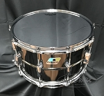 Ludwig Snare Drum USA Supraphonic 8X14 Black Beauty Black Nickel Over Brass Smooth Shell w/ Remo Starfire Chrome Drum Head