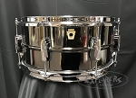 Ludwig Snare Drum USA 6.5x14 Supraphonic Black Beauty Black Nickel over Brass Smooth Shell - 8 Lug