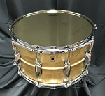 Ludwig Snare Drum 8x14 Raw Brass Shell w/ Remo Starfire Gold Drum Head
