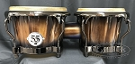 Latin Percussion LP Limited Edition 55th Anniversary Burnt New Zealand Pine Bongos - Candy Black Fade