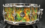Doc Sweeney Snare Drum USA Custom Electric Kool-Aid 6x14 Stave Curly Maple Shell w/ Polished Chrome & Dual 45 Edges