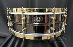 Ludwig Snare Drum 5x14 Black Beauty 110th Anniversary Black Nickel Over Brass 8-Lug Shell w/ Bag