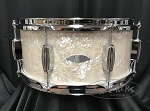 C&C Custom Snare Drum 6.5x14 Player Date 2 7 Ply Maple/Mahogany/Maple Shell - Aged Marine Pearl