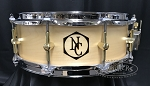 Noble & Cooley Custom Snare Drum SS Classic 5x14 Maple Solid Shell in Clear Matte w/ Woodburn Logo