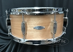 C&C Custom Snare Drum 6.5x14 Player Date 1 7 Ply Mahogany Shell in Natural Mahogany Satin