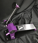Trick Custom Shop Pro1-V Bigfoot Direct Drive Single Bass Drum Pedal - Black & Purple