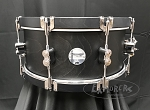 PDP Snare Drum 6.5x14 Concept Maple Classic Shell in Ebony Stain w/ Ebony Wood Hoops