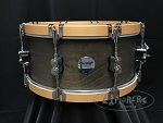 PDP Snare Drum 6.5x14 Concept Maple Classic Shell in Walnut Stain w/ Natural Wood Hoops