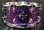 Dixon Snare Drum Cornerstone  Series 6.5x14 Titanium Plated Steel Purple Shell w/ Bag & Drummer's Pouch