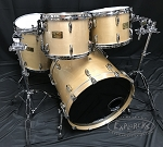 Used Pearl Masters Custom 5 Piece Maple Shell Pack in Platinum Mist - 22,12,13,16 & 14 Snare