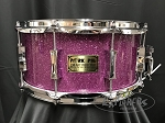 Pork Pie Custom Snare Drum USA 6.5x14 Maple 8 Ply Shell w/ Reinforcement Rings in Purple Glass Glitter