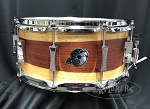 Pork Pie Snare Drum USA Custom 6.5x14 8 Ply Maple Shell w/ Paduk Sap Veneer - Vintage Satin Finish