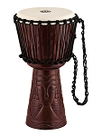 Meinl Professional African Style Djembe 10  Medium African Queen Carving
