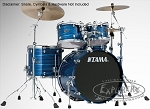 Tama Drum Set Starclassic Performer 4 Piece Birch/Bubinga Shell Pack in Lacquer Ocean Blue Ripple