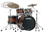 Tama Drum Set Starclassic Performer B/B 4 Piece Shell Pack in Molten Brown Burst