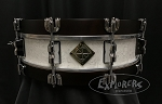 Dixon Snare Drum Classic Series 3.5x14 Maple Shell w/ Wood Hoops in Sub Zero White