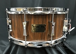 Pork Pie Custom Snare Drum USA 6.5x14 Maple 8 Ply Shell - Vertical Rosewood