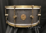 A&F Drum Co. Snare Drum 6.5x14 Raw Steel Shell w/ Raw Brass Hoops & Lugs