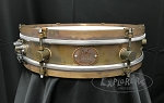 A&F Drum Co. Snare Drum Rude Boy 3x13 Raw Brass Shell w/ Raw Brass Hoops & Lugs