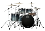 Mapex Drum Set Saturn Rock 4 Piece Maple / Walnut Shell Pack in Teal Blue Fade Lacquer